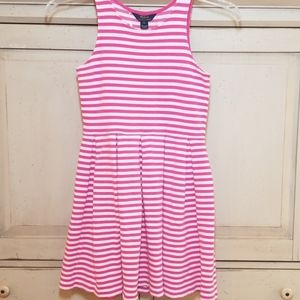 Ralph Lauren Girls Size 16 Dress Pink & White